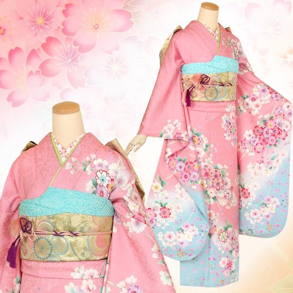 R1403 ピンク 枝垂桜☆(絹)
