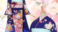 R450 青 鞠と八重桜(絹)