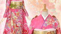 R465 ピンク 彩り花々☆(絹)