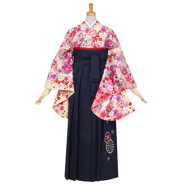 G640 クリーム 桜に花紋