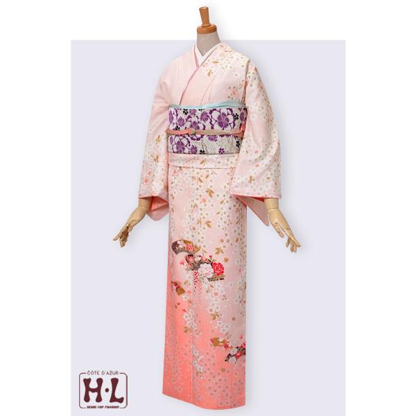 H231 【訳あり】薄ピンク 枝垂れ桜に扇面