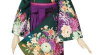 G090 濃緑 菊と四季花