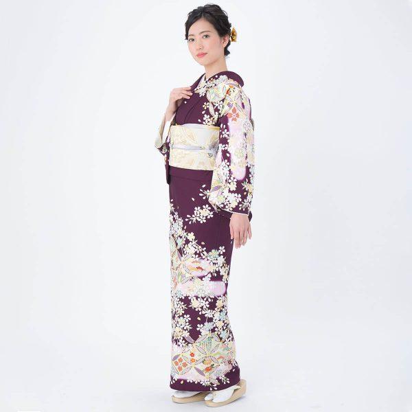 H963 赤紫 桜に七宝(H999)