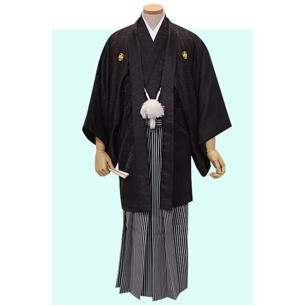 Y001-Y175 黒紋付×縞袴